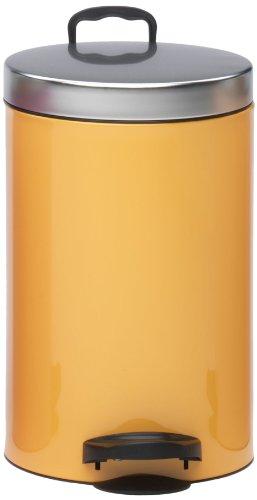Meliconi Poubelle New Line Bicolor Lt. 14 Lusso, Melon (lithographée en métal en fer blanc avec couvercle en métal)