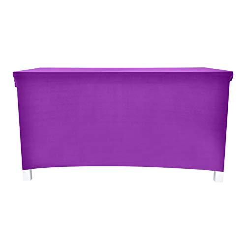 PICTURESQUE Strech Tischhusse Tischdecke Elastisch Lange Tisch Abdeckung Läufer Tisch Cover,Violett,183 * 74 * 76cm