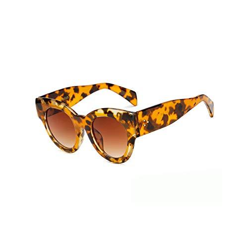 Sportbrillen, Angeln Golfbrille,Sexy Fashion Cat Eye Sunglasses Women Brand Designer Men Big Leopard Frame Retro Vintage Sun Glasses Mirror UV400 C2