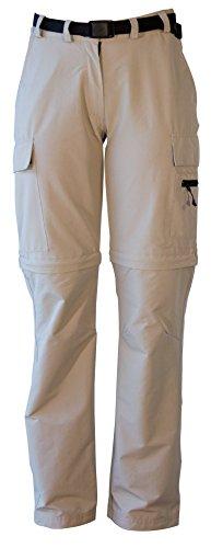 Deproc Active Damen Elastische Hose Kenora Zip-off Sand