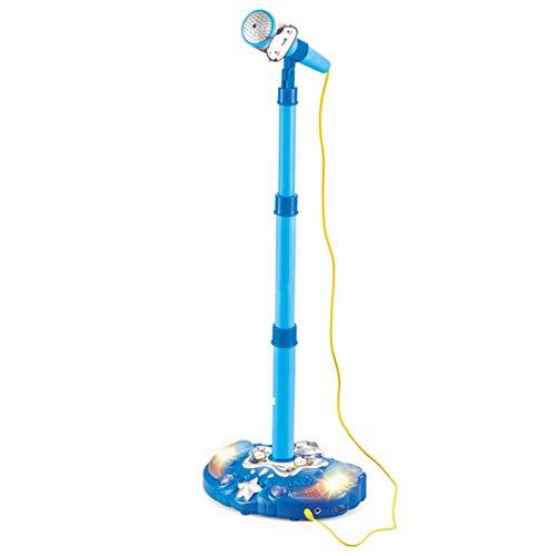 Likeluk Kinder Karaoke Spielzeug Mikrofonständer für Kinder Standmikrofon mit höhenverstellbarem Ständer und Lichteffekte für Jungen und Mädchen
