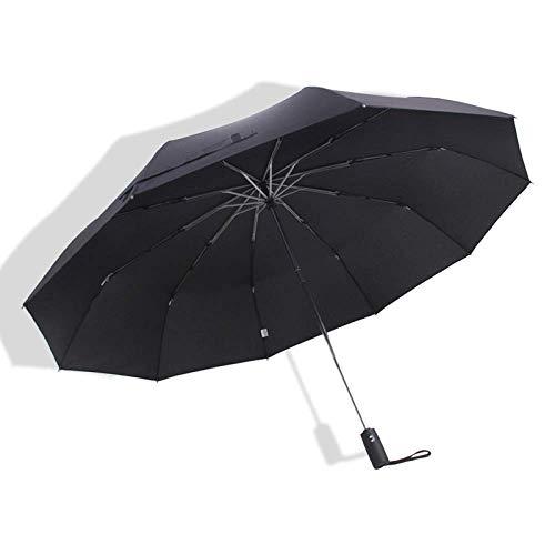 WENYAO Winddichter automatischer Regenschirm Herren großer Taschenschirm Regen Damen Doppel Golf Business Regenschirm Automatik Regenschirm 125CM -