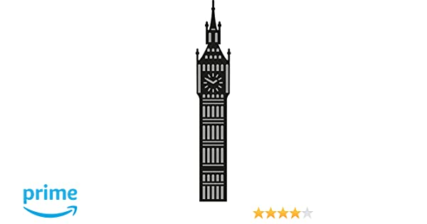 Metal Grey 16.3x11.8x0.6 cm Marianne Design Fustelle Craftables Cutting Die Big Ben