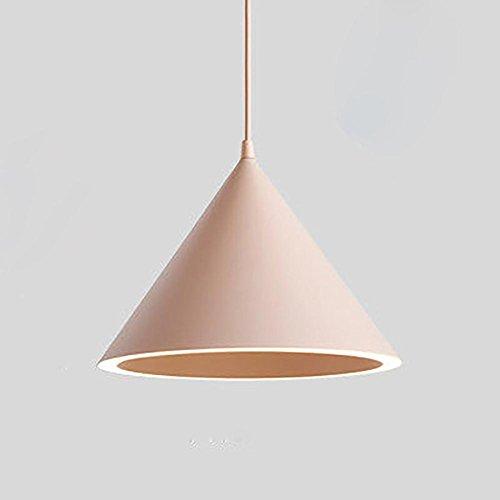 SHIQUNC LED Ring Hängeleuchte, Tapered Deckenleuchte, Qualität Aluminium, Safty Acryl Material, LED Paster Lichtquelle, Keine Notwendigkeit Birne, Pink -