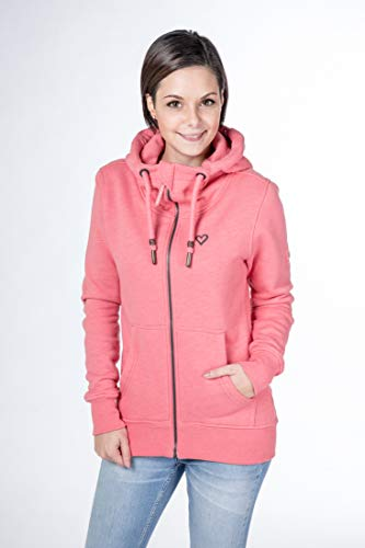 alife and Kickin Yasmin Sweatjacke Damen Jacke Jacket, Coral, M
