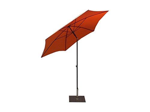 Maffei Art 135-6 Kronos parasol rond cm 250, tissu polyester d'haute qualité imperméable, Made in Italy. Couleur orange