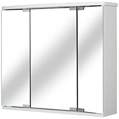 Jokey Armario de espejo LED, color blanco