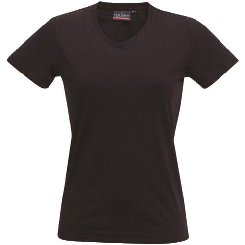 Damen-baumwoll-mischung (HAKRO Damen T-Shirt Performance - 181 - chocolate - Größe: XL)