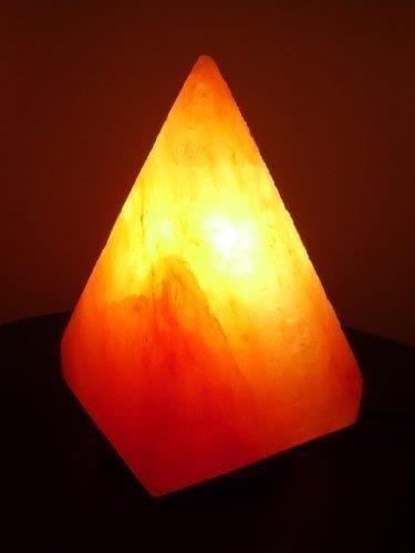 Lampada naturale terapeutica a forma di piramide roccia di cristalli sale himalaya 2-3kg