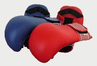 Karate Kumite Faustschützer blau, Gr. S