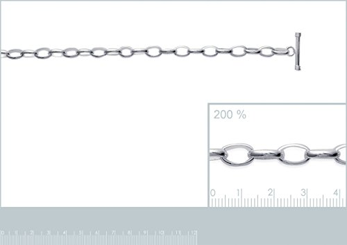 Bracelet Femme Chaîne Argent 925 Rhodié