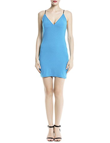 iB-iP Donna Cotone Senza Spalline Underdresses Senza Giunte Mini Slip Completi Mare blu