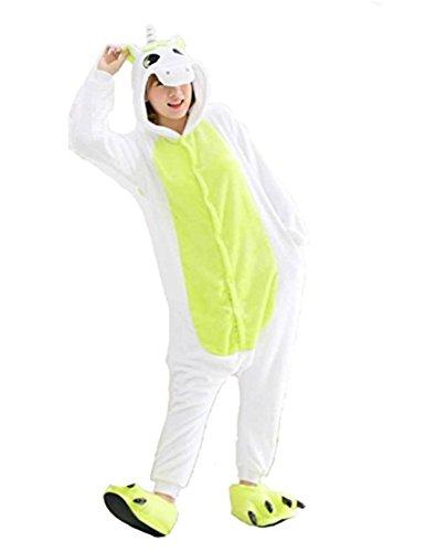 Warmes Unisex-Karnevals-Kostüm für Kinder, Einhorn Eule Zebra Giraffe Kuh, für Halloween Fest Party, als Pyjama, Tier-Kigurumi-Kostüm für Zoo-Cosplay, Einteiler - Small - Unicorn (Eule Kostüm Halloween)