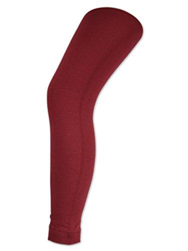 sockenkauf24 Damen THERMO Leggings mit Innenfleece extra warm Innenfutter Fleece Leggins - 89556 (48/50, Bordeaux Rot)