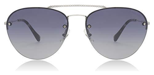 Miu Miu Sonnenbrillen SMU 54U Silver/Blue Shaded Damenbrillen