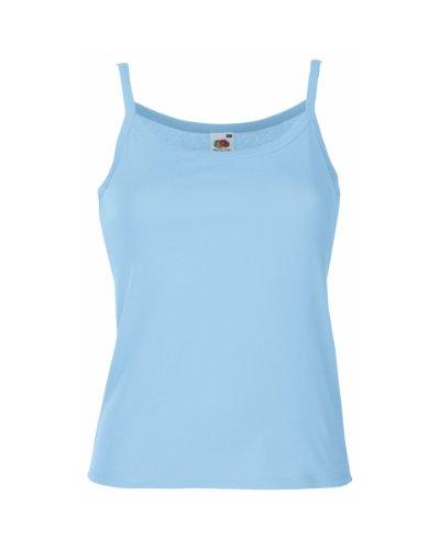 Fruit of the Loom - T-shirt -  Femme Bleu - Bleu ciel
