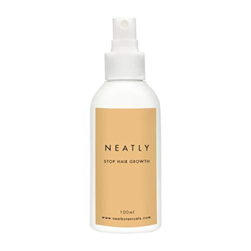 Haarwachstum verlangsamen mit NEATLY I Stoppt das Nachwachsen der Haare bei Frauen 100 ml | Alternative zu IPL Haarentferner, dauerhafte Haarentfernung und Wachsstreifen -