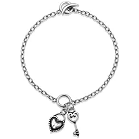 In argento Sterling 925 con diamante 0,01 kt, lunghezza & Lily Lotty Kitty - Kitty Lily