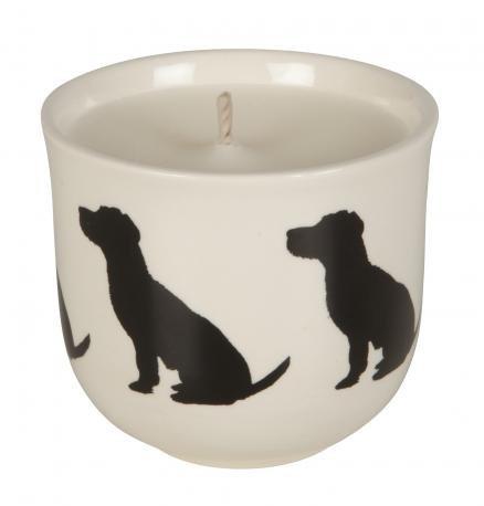 victoria Armstrong Hund Terrier Design Signature Kerze in Keramik weihgabe (Hund-schüssel Terrier)