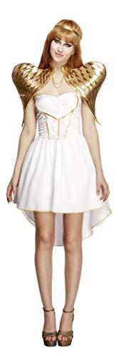 Fever, Damen Glamouröses Engel Kostüm, Kleid mit Unterrock, Stirnband und Flügel, Größe: S, (Für Erwachsene Himmlischen Engel Kostüm)