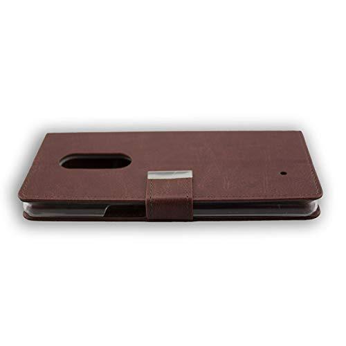 caseroxx Tasche Case Hülle Bookstyle-Case für HP Elite X3 in braun