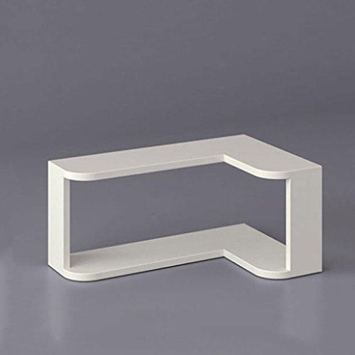 Scaffali xm zfgg mensola angolare bianca, mensola a muro per soggiorno di design a 2 angoli angolari -55 * 35 * 25cm