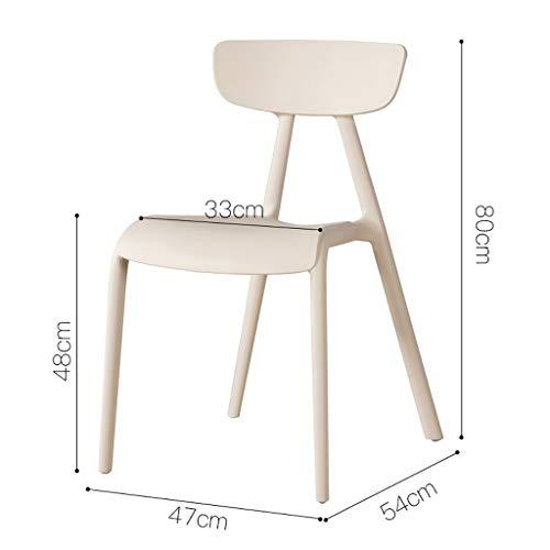 Kunststoff-stuhl Sitzbezüge (Kunststoff Farbe Rückenlehne Esszimmerstuhl Bürostuhl Empfang Stuhl Freizeit Eltern-Kind-Stuhl Macaron Kinderstuhl (Farbe : Gray))