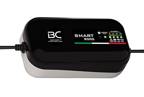 BC SMART 5000 Caricabatterie e mantenitore di carica con 8 cicli di ricarica, 12V