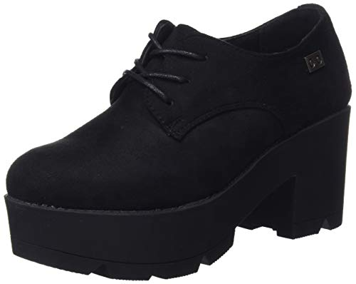 COOLWAY Nanny, Zapatos de Cordones Oxford para Mujer, Negro Blk 000, 38 EU