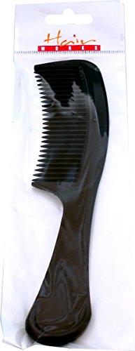 Unisexe Salon professionnel Démêlant Coiffure Poignée Peigne Noir Lot de 6
