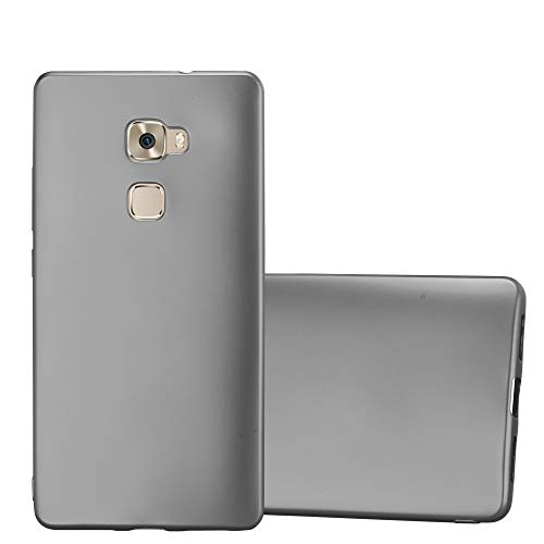 Cadorabo Hülle für Huawei Mate S - Hülle in METALLIC GRAU – Handyhülle aus TPU Silikon im Matt Metallic Design - Silikonhülle Schutzhülle Ultra Slim Soft Back Cover Case Bumper