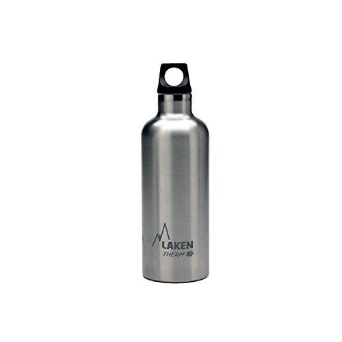 Laken Futura Thermo, Borraccia, Argento (Plain), 500 ml