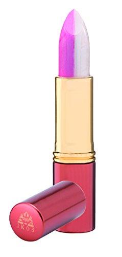 Ikos Duo Lippenstift weiß/rosa kussecht, 1er Pack (1 x 3.5 g)
