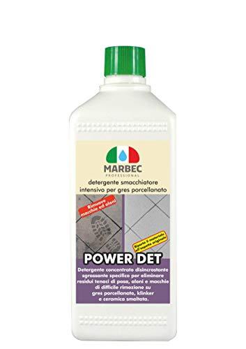 Marbec - power det 1lt   detergente smacchiatore intensivo per gres porcellanato