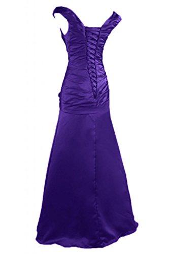 Toscane mariée à deux support fleur satin abendkleider party ballkleider de longueur fixe Violet - Violet