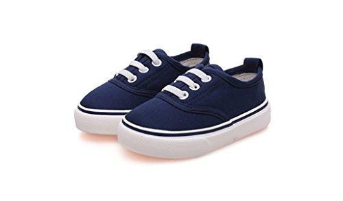 ALUK- Chaussures de bébé - Chaussures de toile pour enfants Apprenez chaussures paresseuses Chaussures occasionnelles ( Couleur : Rouge , taille : 19 ) Bleu foncé