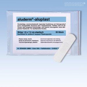Söhngen 1009911 Nachfüllset aluderm®-aluplast Wundverbände für Pflasterspender 30 Strips 7,2 x -