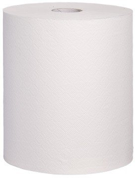 Blanc HYGIENIC Handtuchrolle, Handtuchpapier SET, 6 Rollen, 3-lagig, 90m je Rolle, Zellstoff geklebt, reißfest & belastbar - 1 Set