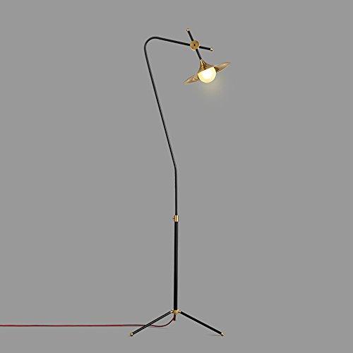 WEBO HOME- Personnalisé créatif lampe en fer forgé salon table basse chambre à coucher lampe abat-jour lampadaire -Lampadaire