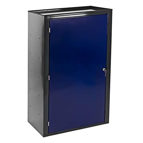 Stahl Werkzeugschrank Stahlschrank Schrank 2 Böden anthrazit/blau 70x43x120 cm