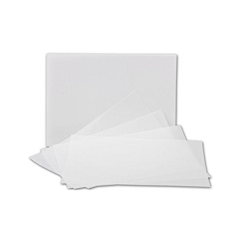 aches Einlege-Papier für DIN A6 Karten | transparent-weiß | 103 x 146 mm | ideal zum Bedrucken mit Tinte und Laser | hochwertig Mattes Papier von Gustav NEUSER® ()