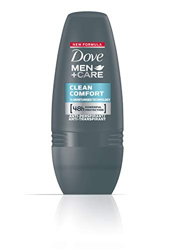 Dove Men+Care - Deodorante Roll-On Clean Comfort, 3 pz. (3 x 50 ml)