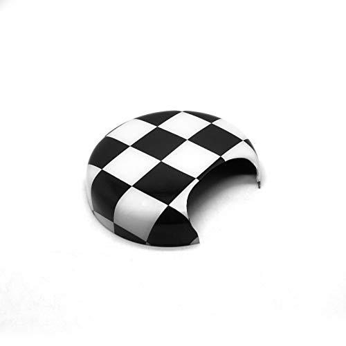 Preisvergleich Produktbild YaaGoo Für Mini R50 R52 R53 Drehzahlmesser Abdeckung Kappe Shell Auto Styling Zubehör, Kariertes Schwarzweiss