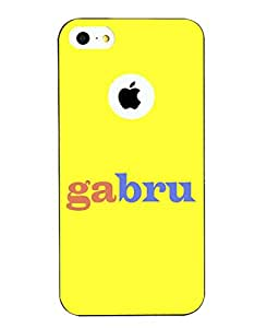 Snazzy Gabru Printed Yellow Hard Back Cover For Apple Iphone 5/5S