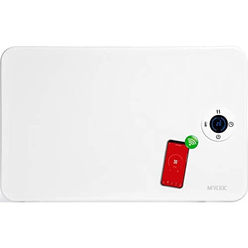 31wik1JbVFL. SS500  - MYLEK Smart Electric Panel Heater 1KW, Timer & Thermostat - Free Standing or Wall Mounted - Built-in Optional WiFi Remote App Control (1kW), Tip Over Protection