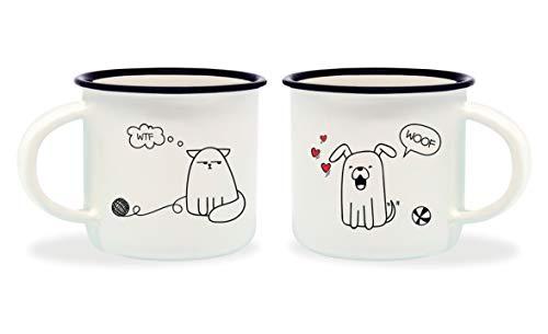 Legami Espressotassen, Mehrfarbig, 5,5x 5,5x 5cm Hund&Katze 5.5x5.5x5 cm Mehrfarbig