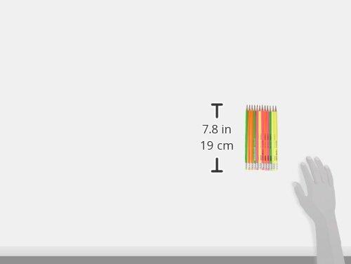 comprare on line STABILO swano fluo matita in grafite con gommino Giallo/Verde/Arancione/Rosa - Eco Pack da 12 prezzo