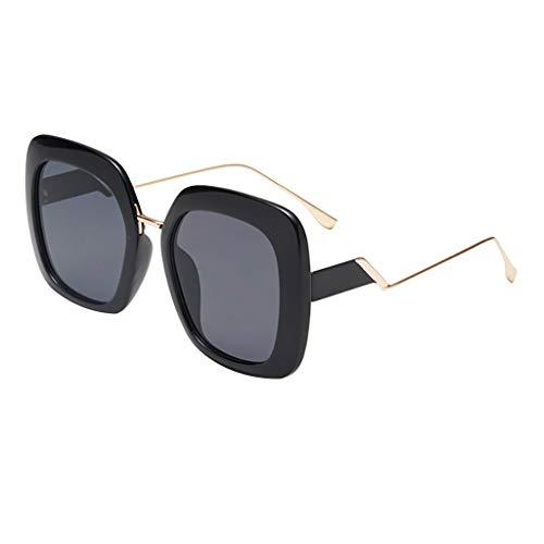 EUCoo Sonnenbrille Retro PersöNlichkeit Modell StraßE SchießEn Brille GroßEn Rahmen Metall Sonnenblende Strandspiegel (A)