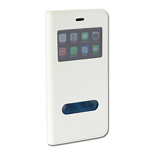 Drago Custodia in pelle Cover in finta pelle iPhone 6o iPhone 6Plus Case con Finestra Info ome100X
