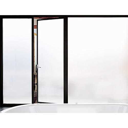 Be&xn Datenschutz-Fenster-Folie No-Glue Statisch Dekorative Sichtschutzfolie Filme Anti-uv Fenster-klammern für Office Home Badezimmer Glastür-Weiß 75x100cm(30x39inch) - Jalousie Weiss Vinyl